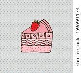 cake design over gray... | Shutterstock .eps vector #196991174