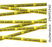 realistic caution and  danger... | Shutterstock .eps vector #196991960