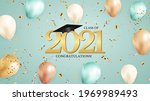 graduation class of 2021 with... | Shutterstock .eps vector #1969989493