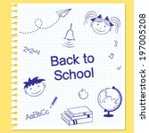 back to school concept. hand... | Shutterstock .eps vector #197005208