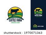 cattle farm logo template...   Shutterstock .eps vector #1970071363