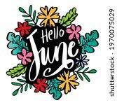 hello june hand lettering ... | Shutterstock .eps vector #1970075029