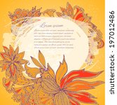 floral background | Shutterstock .eps vector #197012486