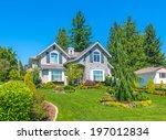 big custom made luxury house... | Shutterstock . vector #197012834