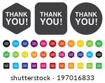 thank you icon | Shutterstock .eps vector #197016833
