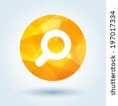 search icon with modern... | Shutterstock .eps vector #197017334