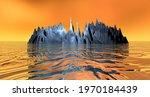 3d Rendering Fantasy Landscape...