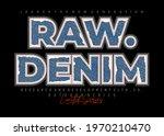 raw denim  modern and stylish... | Shutterstock .eps vector #1970210470