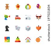 Toy Icons   Flat Icon Set For...