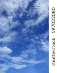 blue sky and clouds | Shutterstock . vector #197022080
