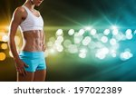close up of sport woman in... | Shutterstock . vector #197022389