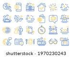 travel line icons. passport ... | Shutterstock .eps vector #1970230243