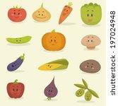 funny cartoon vegetables vector ...