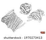 sketch of a set pasta...   Shutterstock .eps vector #1970273413