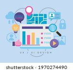 ux ui set icons in webpage | Shutterstock .eps vector #1970274490