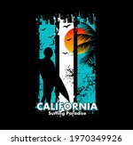 california surfing paradise...   Shutterstock .eps vector #1970349926