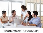 attractive business people... | Shutterstock . vector #197039084