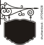 exquisite hanging sign with... | Shutterstock .eps vector #19704028