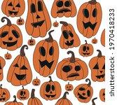halloween pumpkins set. orange...   Shutterstock .eps vector #1970418233
