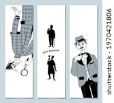 Set Of 3 Bookmarks With Great...