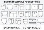 patch pocket flat sketch vector ... | Shutterstock .eps vector #1970450579