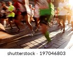 marathon | Shutterstock . vector #197046803