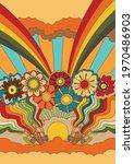 vintage abstract fantastic... | Shutterstock .eps vector #1970486903