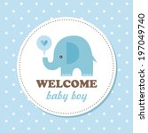 Stock vector welcome baby card vector illustration 197049740
