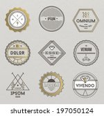 set of hipster vintage retro... | Shutterstock .eps vector #197050124