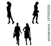 vector silhouette of...   Shutterstock .eps vector #197052203