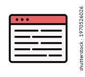 webpage  article  content icon...   Shutterstock .eps vector #1970526026