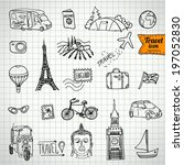sketch doodle icon collection ... | Shutterstock .eps vector #197052830