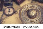 Antique Brass Sphere With A...