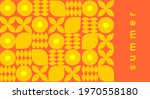 geometric abstraction. summer.... | Shutterstock .eps vector #1970558180