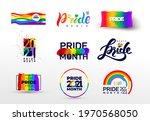 pride design logo icon. set of... | Shutterstock .eps vector #1970568050