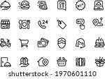 food delivery icons vector...   Shutterstock .eps vector #1970601110