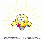 electric bulb character smiling ... | Shutterstock . vector #1970618939