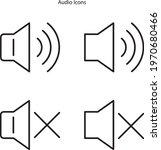 audio icon isolated on white...