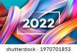 calendar header 2022 number on... | Shutterstock .eps vector #1970701853