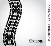 tire track background abstract... | Shutterstock .eps vector #197075870