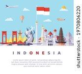 famous indonesia landmarks flat ...   Shutterstock .eps vector #1970806220