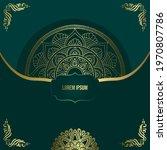 mandala template with elegant ...   Shutterstock .eps vector #1970807786
