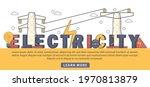 flat design electricity... | Shutterstock .eps vector #1970813879
