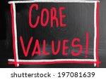 core value concept | Shutterstock . vector #197081639