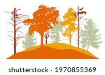 autumn forest  silhouette of...   Shutterstock .eps vector #1970855369