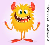 happy cartoon monster....   Shutterstock .eps vector #1970856530