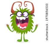 cartoon green monster nerd...   Shutterstock .eps vector #1970856533