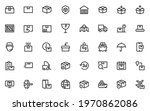 set of delivery icons  logistic ... | Shutterstock .eps vector #1970862086