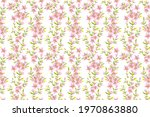 watercolor floral seamless... | Shutterstock . vector #1970863880