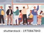 many people sitting and... | Shutterstock .eps vector #1970867843